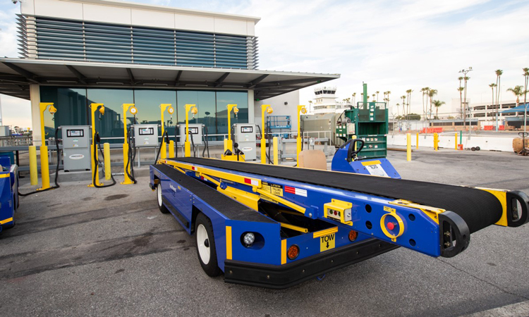 Long Beach Airport introduces electric ground support equipment