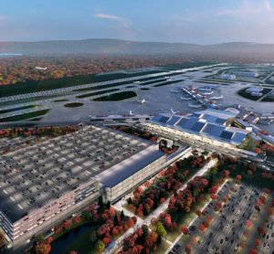 Initial design for terminal development at Pittsburgh Airport approved